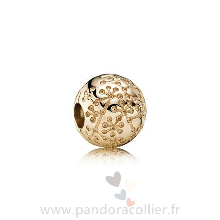 Promotionnel Pandora Pandora Collections Floral Lucerne Clip 14K Or
