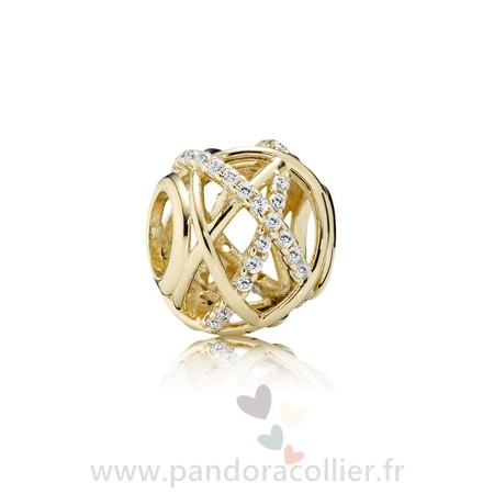 Promotionnel Pandora Pandora Collections Galaxy Charm Clear Cz 14K Or