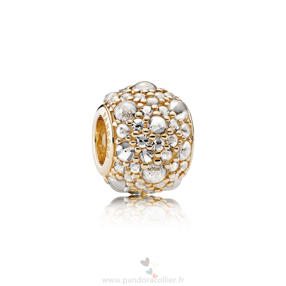 Promotionnel Pandora Pandora Collections Gouttelettes Chatoyantes Charm 14K Or Clear Cz