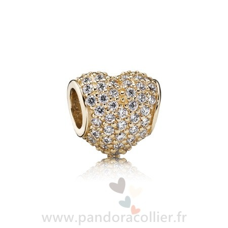 charm pandora coeur or rose
