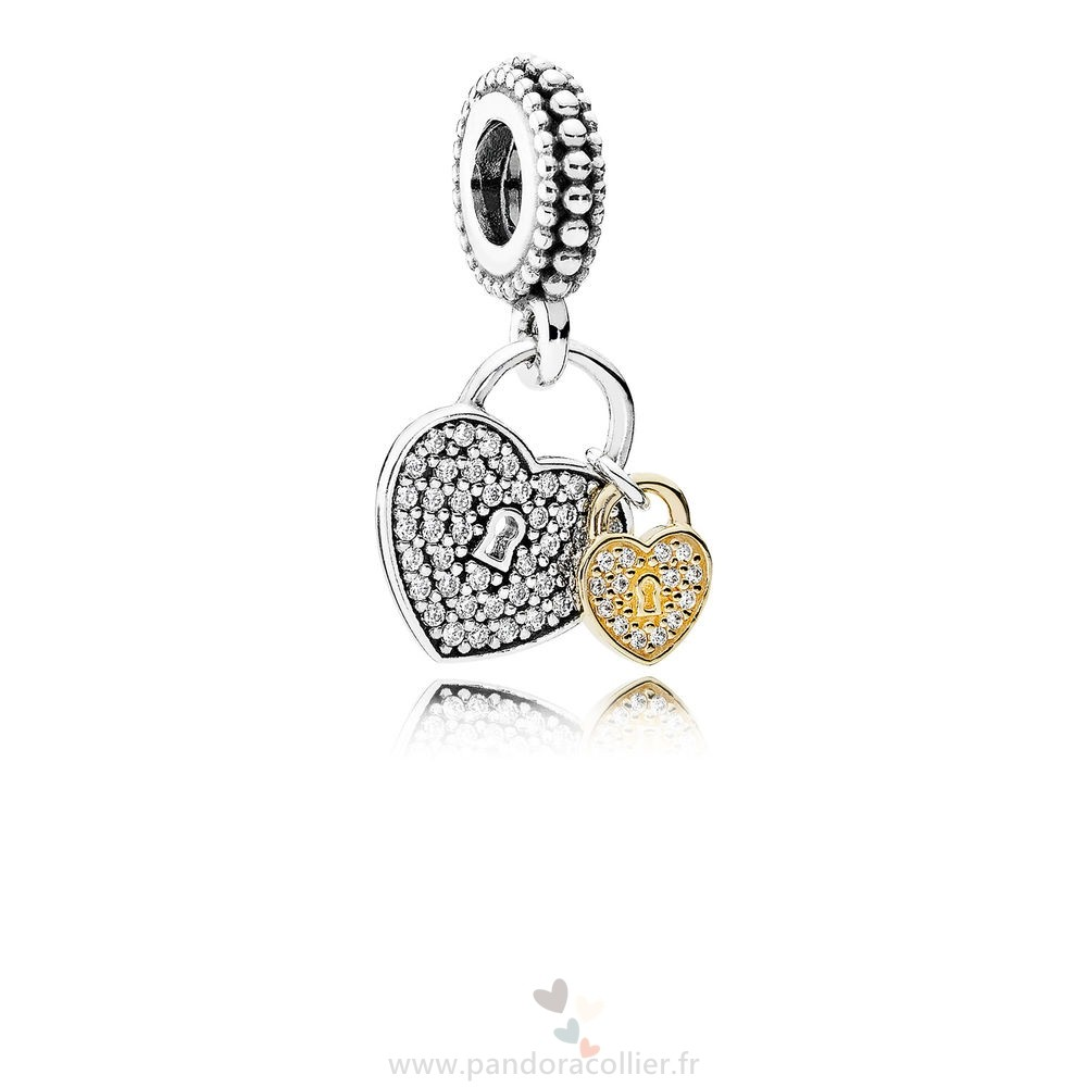 Promotionnel Pandora Pandora Mariage Anniversaire Charms Amour Serrures Dangle Charm Clear Cz
