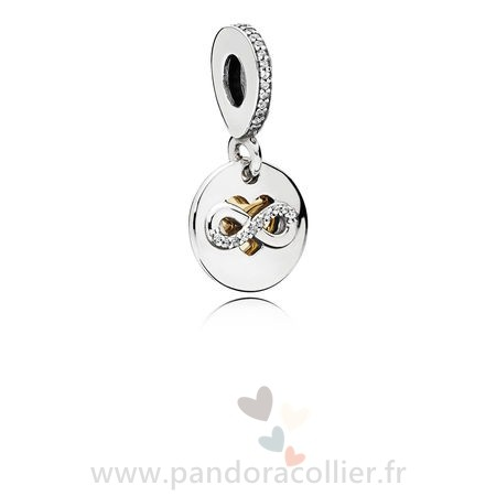Promotionnel Pandora Pandora Mariage Anniversaire Charms Coeur De Infinity Dangle Charm Clear Cz
