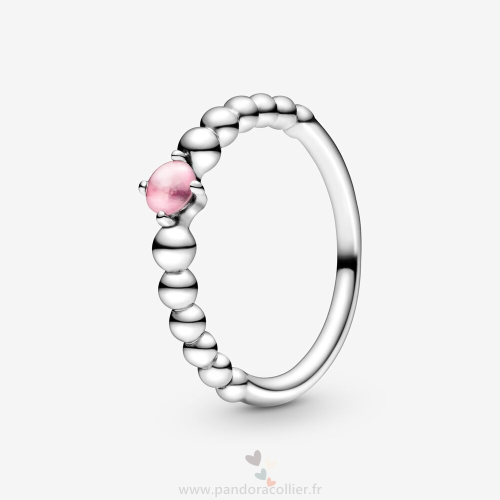 Promotionnel Pandora En Perles Rose Pétale Bagues