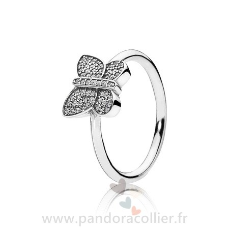 Promotionnel Pandora Pandora Bagues Papillon Mousseux Clear Cz
