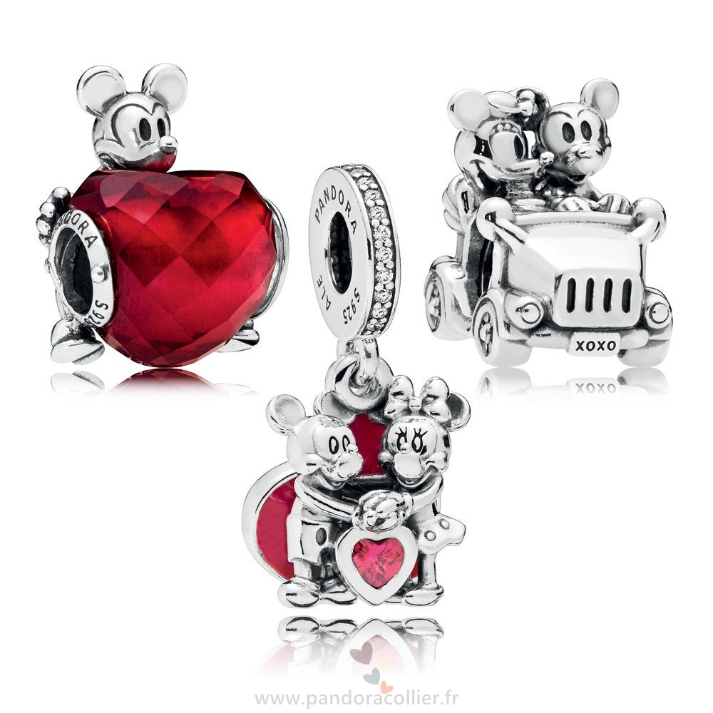 Promotionnel Pandora Disney Mickey Et Minnie Amour Charm Pack