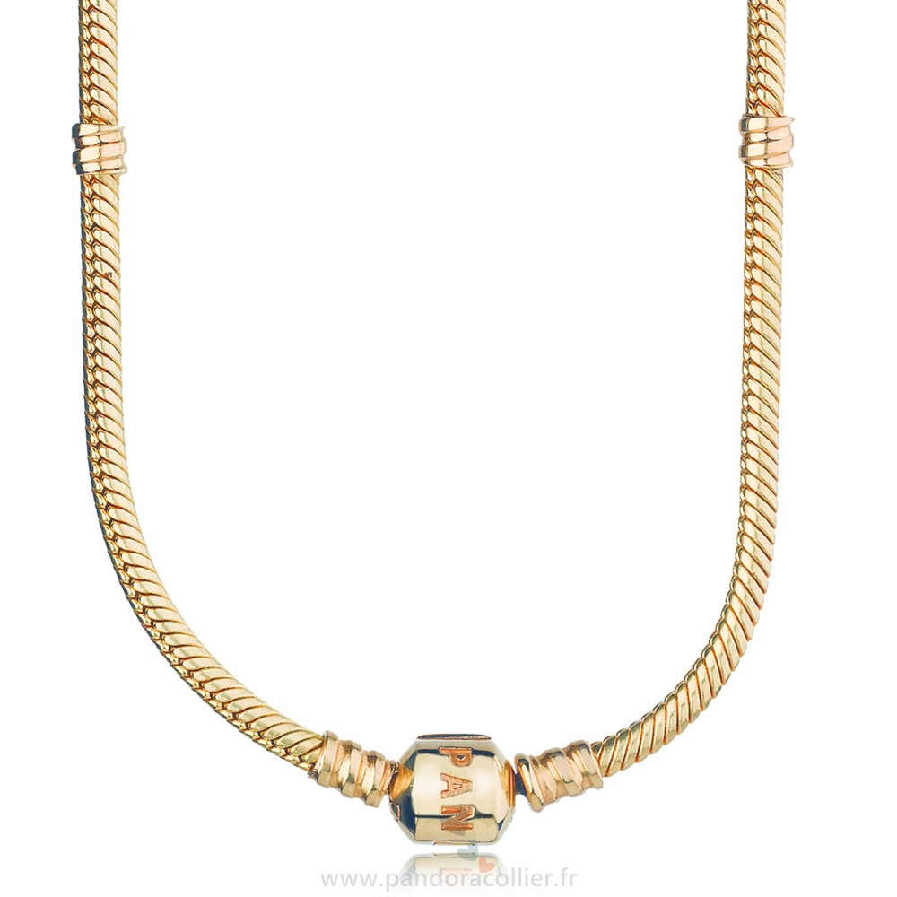 Promotionnel Pandora Pandora Chaines 14K Or Charm Collier
