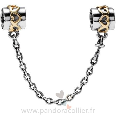 Promotionnel Pandora Pandora Chaines De Securite Chaine De Securite Du Coeur