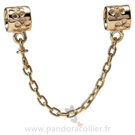 Promotionnel Pandora Pandora Chaines De Securite Fleur Charm Chaine De Securite 14K Or