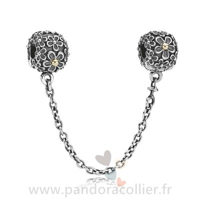 Promotionnel Pandora Pandora Chaines De Securite Pandora 925 Daisy Safety