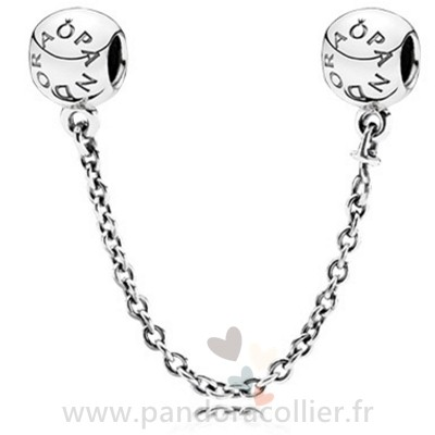 Promotionnel Pandora Pandora Chaines De Securite Pandora 925 Logo Safety Chain