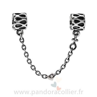 Promotionnel Pandora Pandora Chaines De Securite Pandora 925 Raindrop Safety Chain