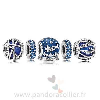 Promotionnel Pandora Royal Bleu Noel Nuit Charm Pack