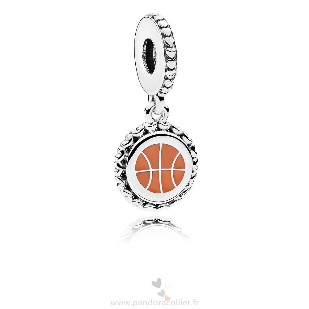 Promotionnel Pandora Basketball Dangle Charm, Mixte Émail
