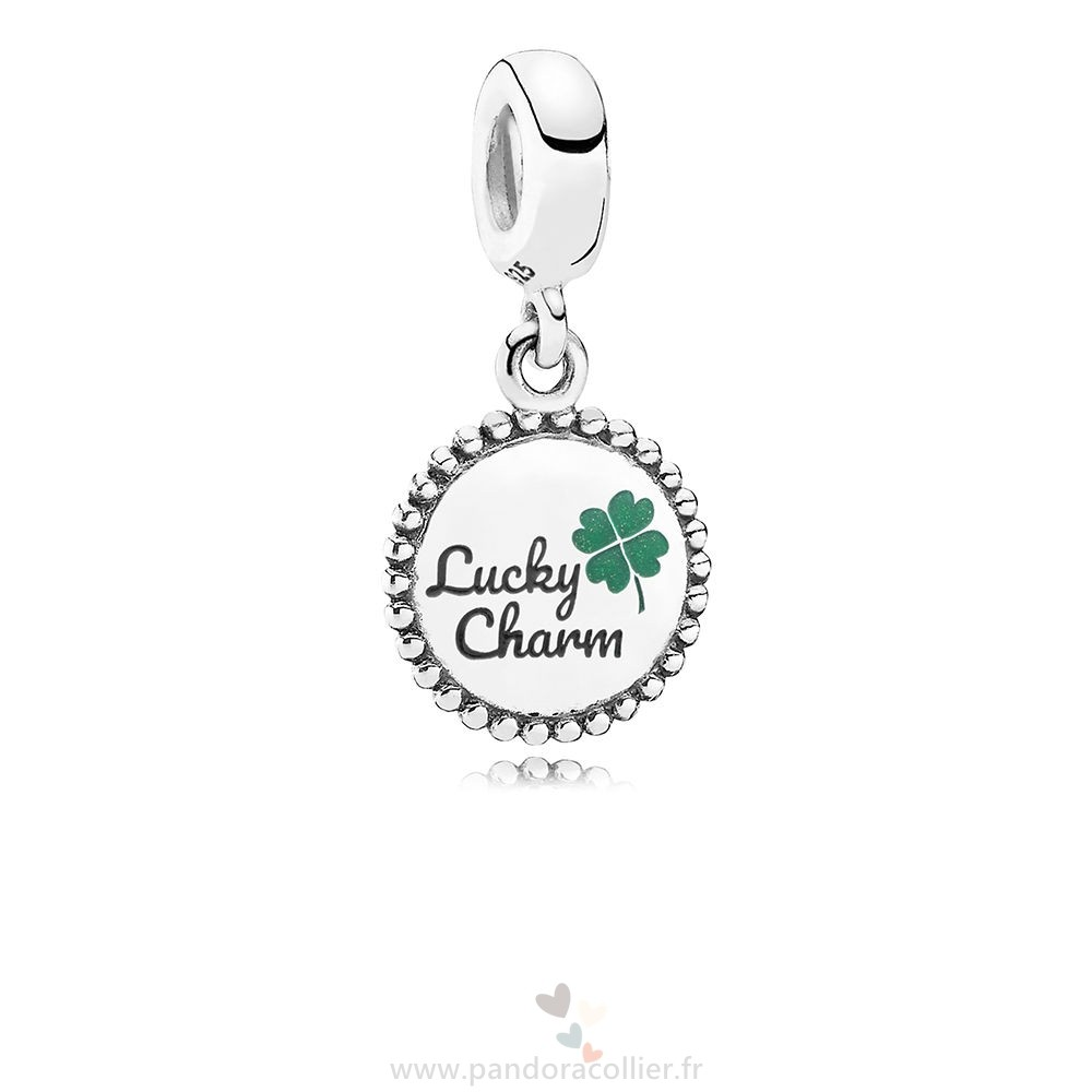 Promotionnel Pandora Chanceux Dangle Charm, Mixte Émail
