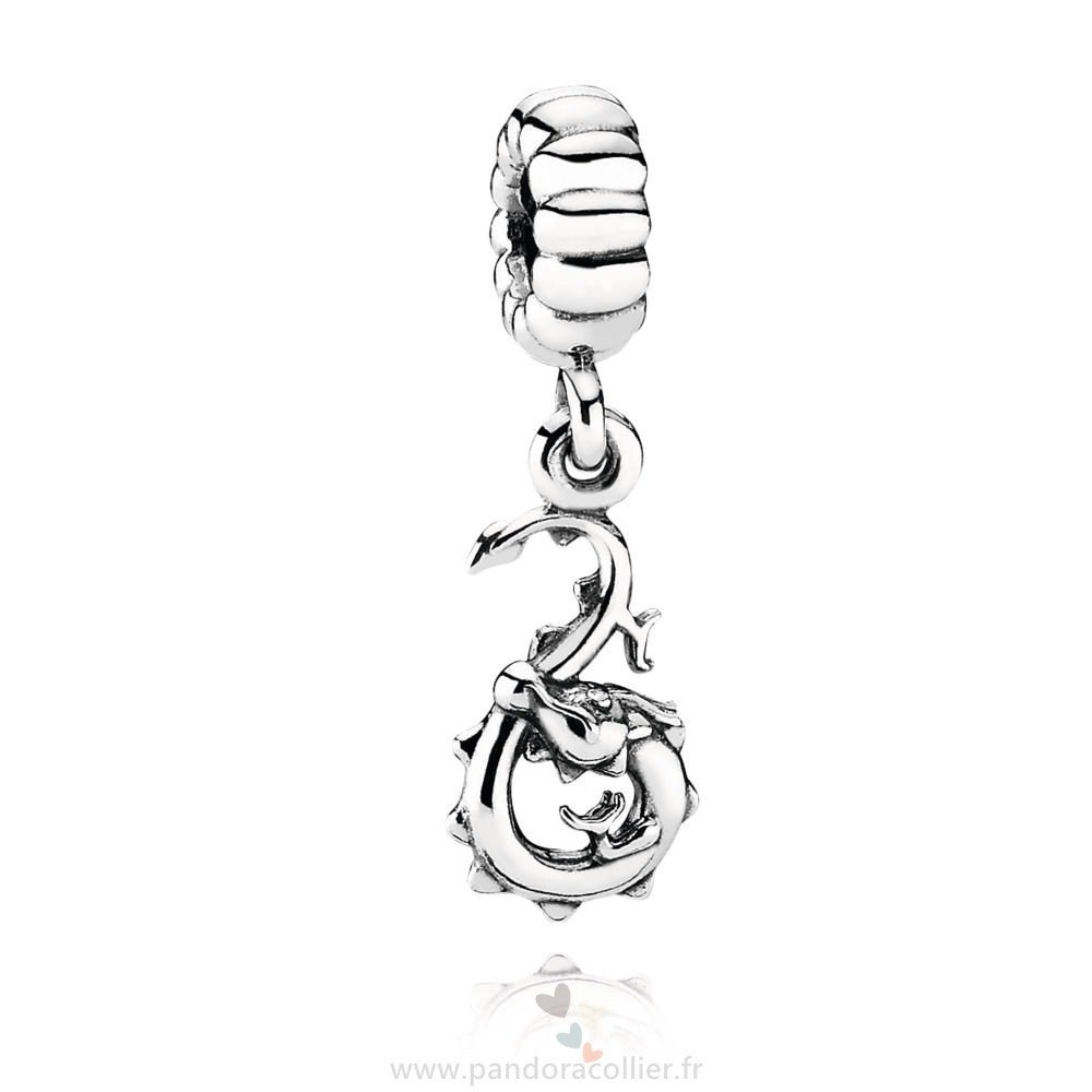 Promotionnel Pandora Chinese Zodiac Dragon Pendant Charm