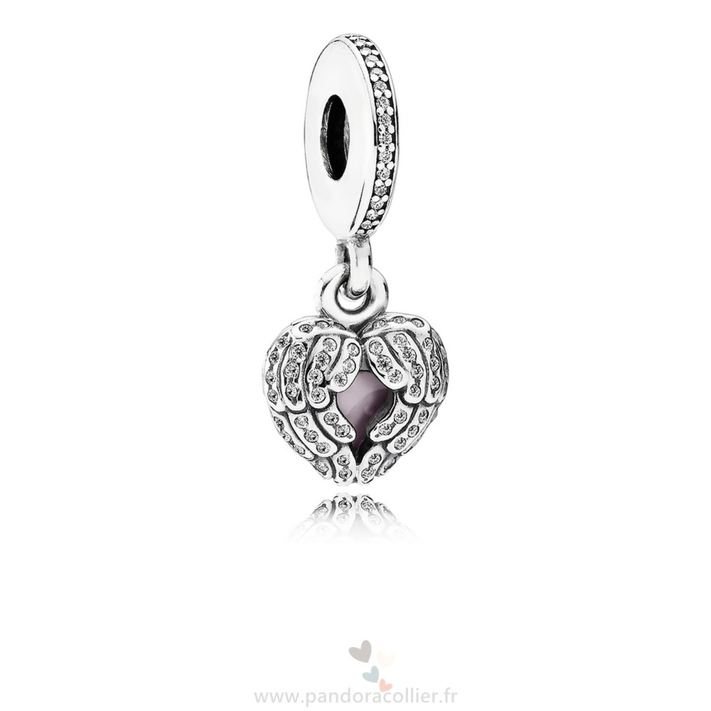 Promotionnel Pandora Pandora Dangle Charms Ange Ailes Dangle Charm Clear Cz Rose Email