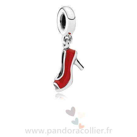 Promotionnel Pandora Pandora Passions Charms Chic Breloque Glamour Red Stiletto Red Enamel