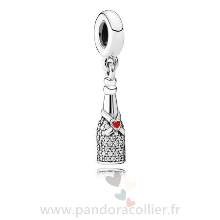 Promotionnel Pandora Pandora Passions Charms Chic Charme Celebration Time Dangle Red Enamel Clear Cz