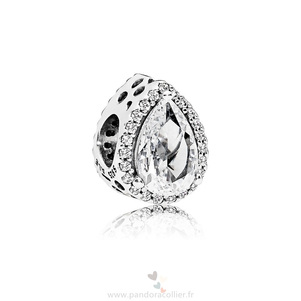 Promotionnel Pandora Pandora Passions Charms Chic Charme Glamour Radiant Teardrop Clear Cz