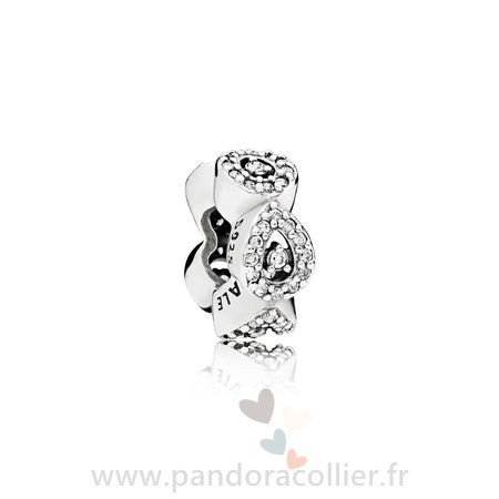 Promotionnel Pandora Pandora Passions Charms Chic Glamour Cascading Glamour Spacer Clear Cz