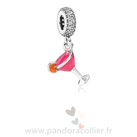 Promotionnel Pandora Pandora Passions Charms Chic Glamour Fruite Cocktail Charm Mixed Email Clear Cz