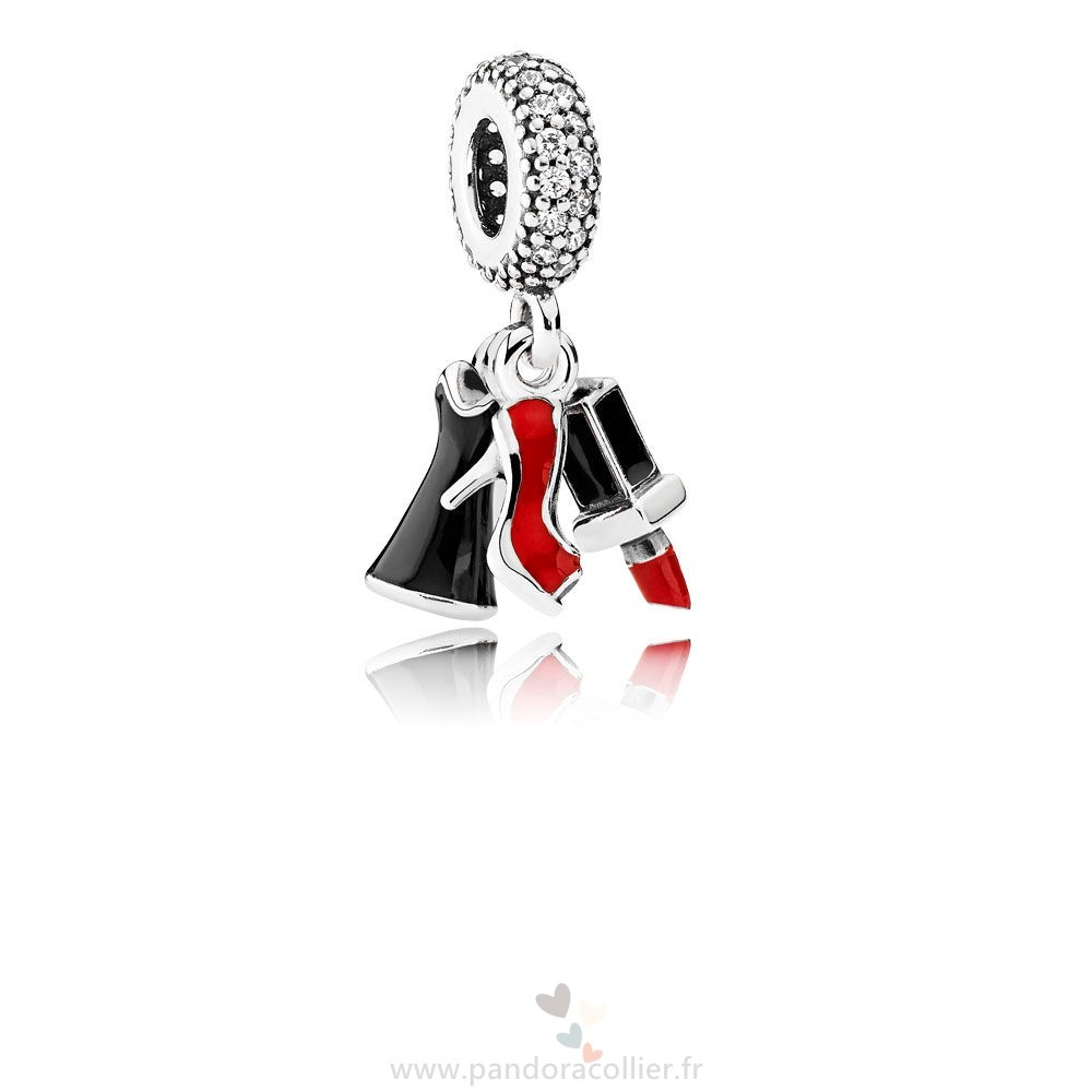 Promotionnel Pandora Pandora Passions Charms Chic Glamour Glamour Trio Charme Dangle Mixed Email Clear Cz