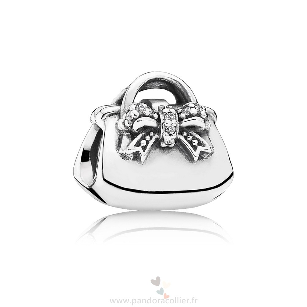 Promotionnel Pandora Passions Charms Chic Charmant Sac A Main Clear Cz
