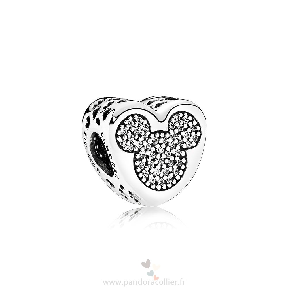 Promotionnel Pandora Pandora Disney Breloques Mickey Minnie True Amour