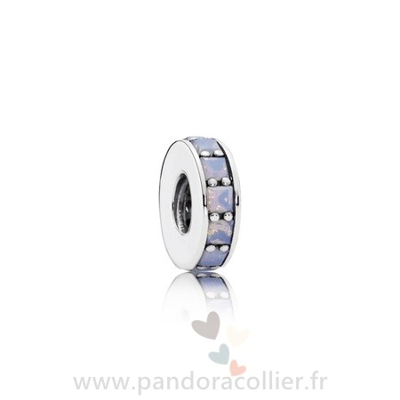 Promotionnel Pandora Pandora Entretoises Charms Eternity Spacer Opalescent Blanc Crystal
