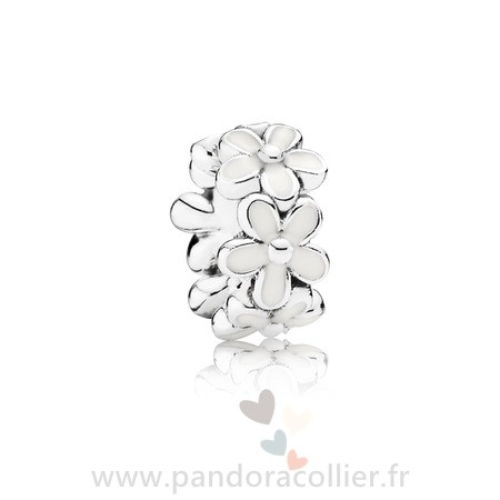 Promotionnel Pandora Pandora Espaceurs Charms Darling Marguerites Spacer Blanc Email