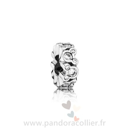 Promotionnel Pandora Pandora Espaceurs Charms Disney Mickey All Around Spacer Clear Cz
