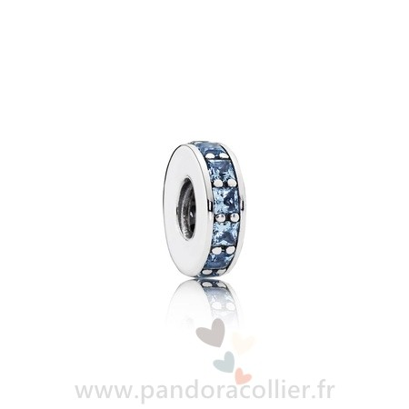 Promotionnel Pandora Pandora Espaceurs Charms Eternity Spacer Sky Blue Crystal