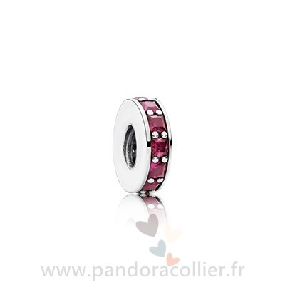 Promotionnel Pandora Pandora Espaceurs Charms Eternity Spacer Synthetic Ruby