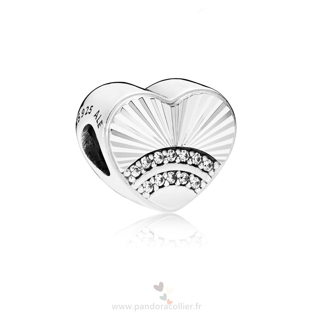 Promotionnel Pandora Fan Of Amour Charm Clear Cz