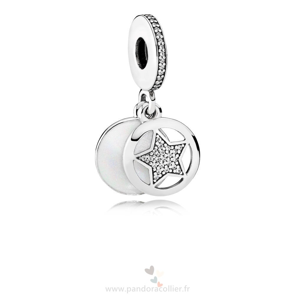 Promotionnel Pandora Amis Amitie Etoile Dangle Charm Argent Email Clear Cz