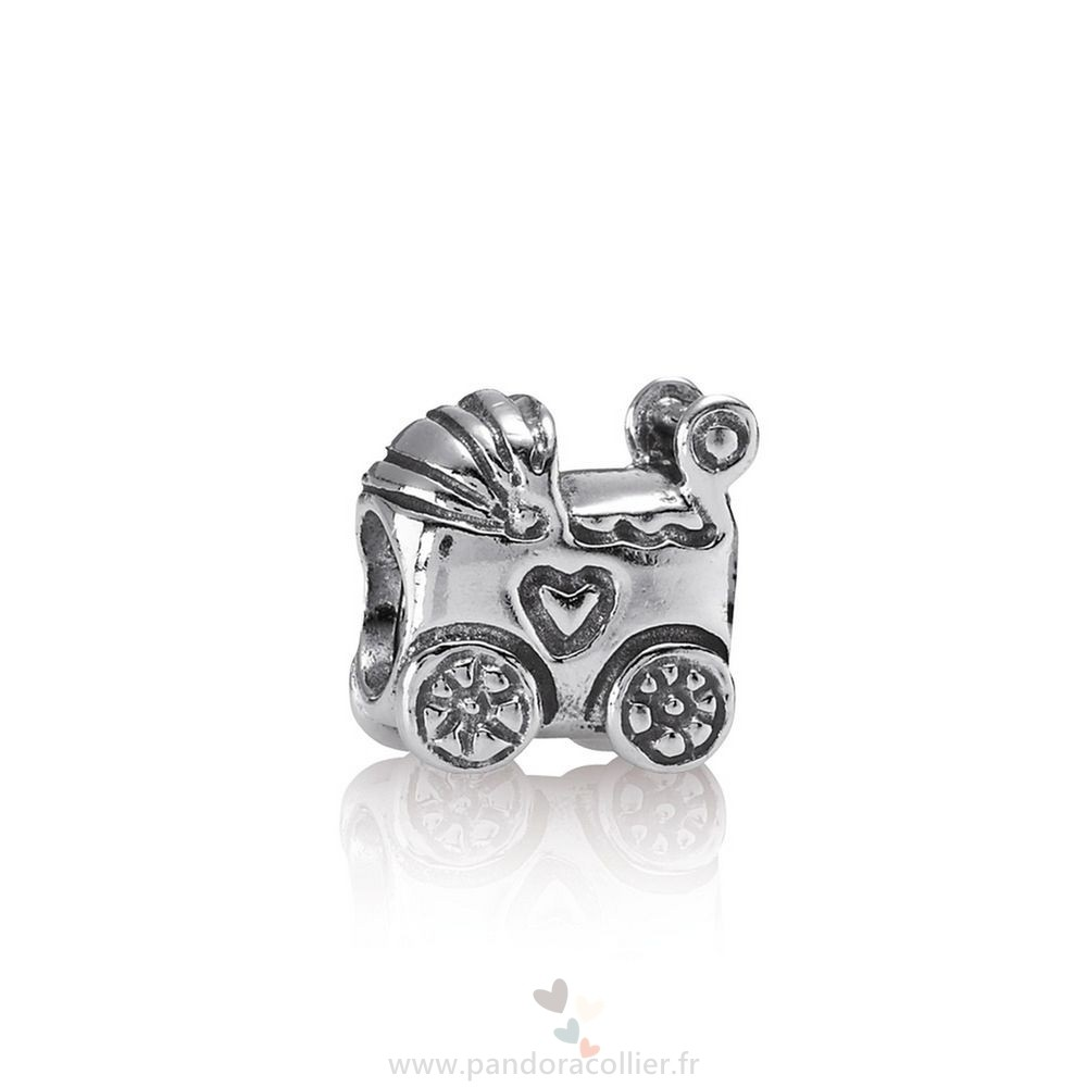 Promotionnel Pandora Famille Bebe Carriage Charm