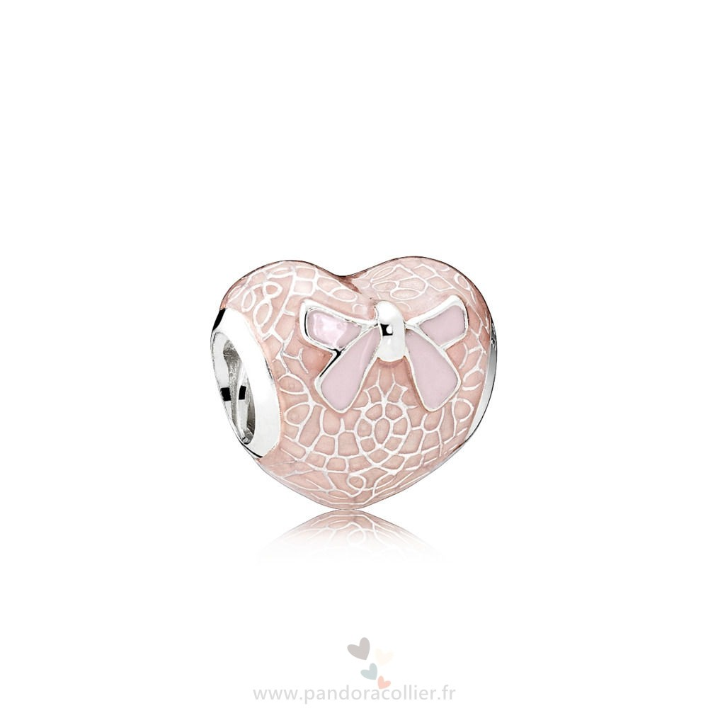 Promotionnel Pandora Dentelle Rose Et Bow Charm