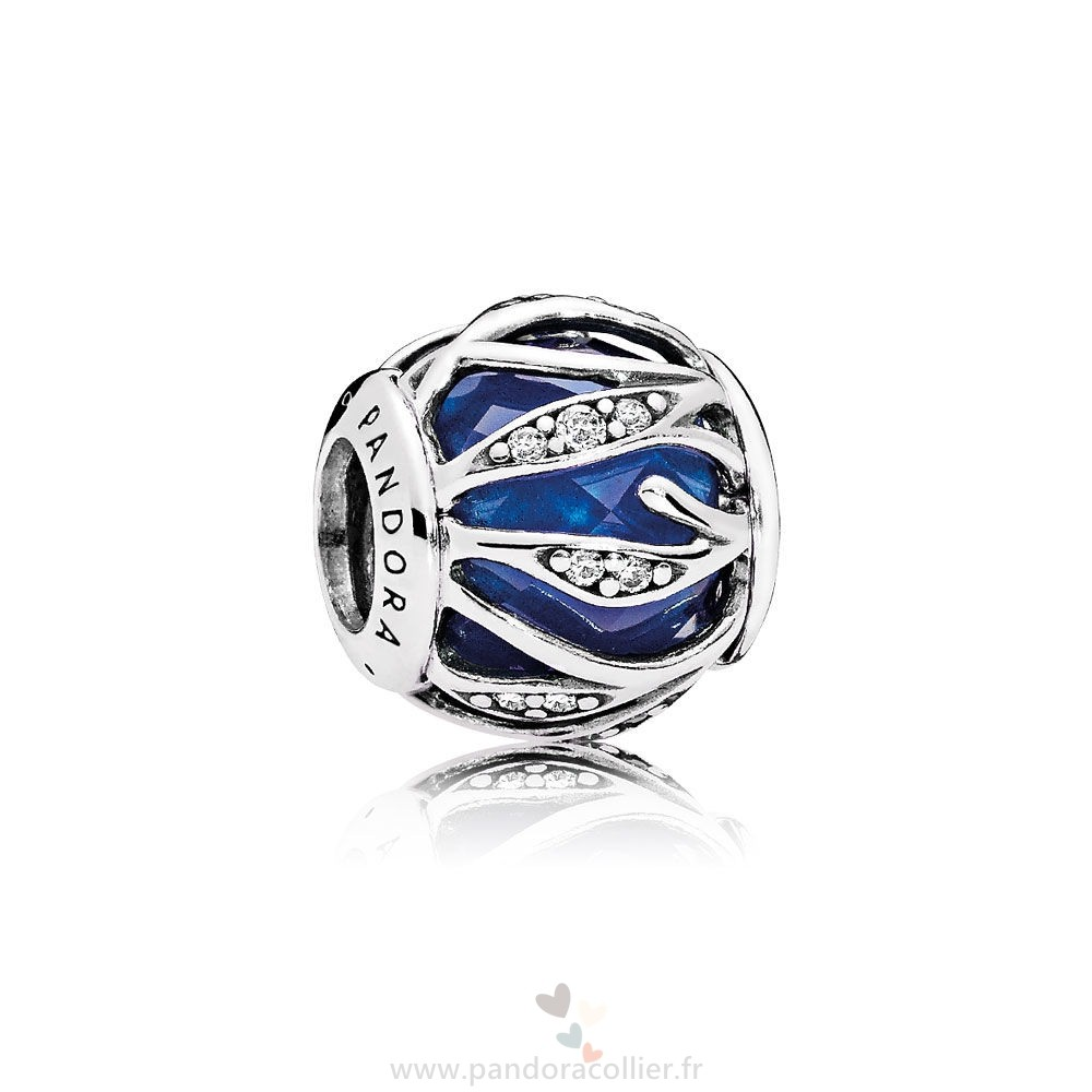 Promotionnel Pandora Nature Breloques Nature'S Radiance Royal Blue Crystal Clear Cz Prix