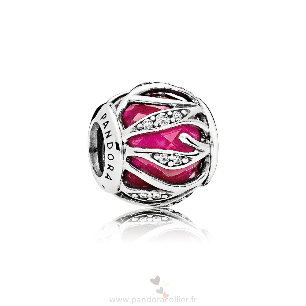 Promotionnel Pandora Nature Charms Nature'S Radiance Synthetique Ruby Clear Cz