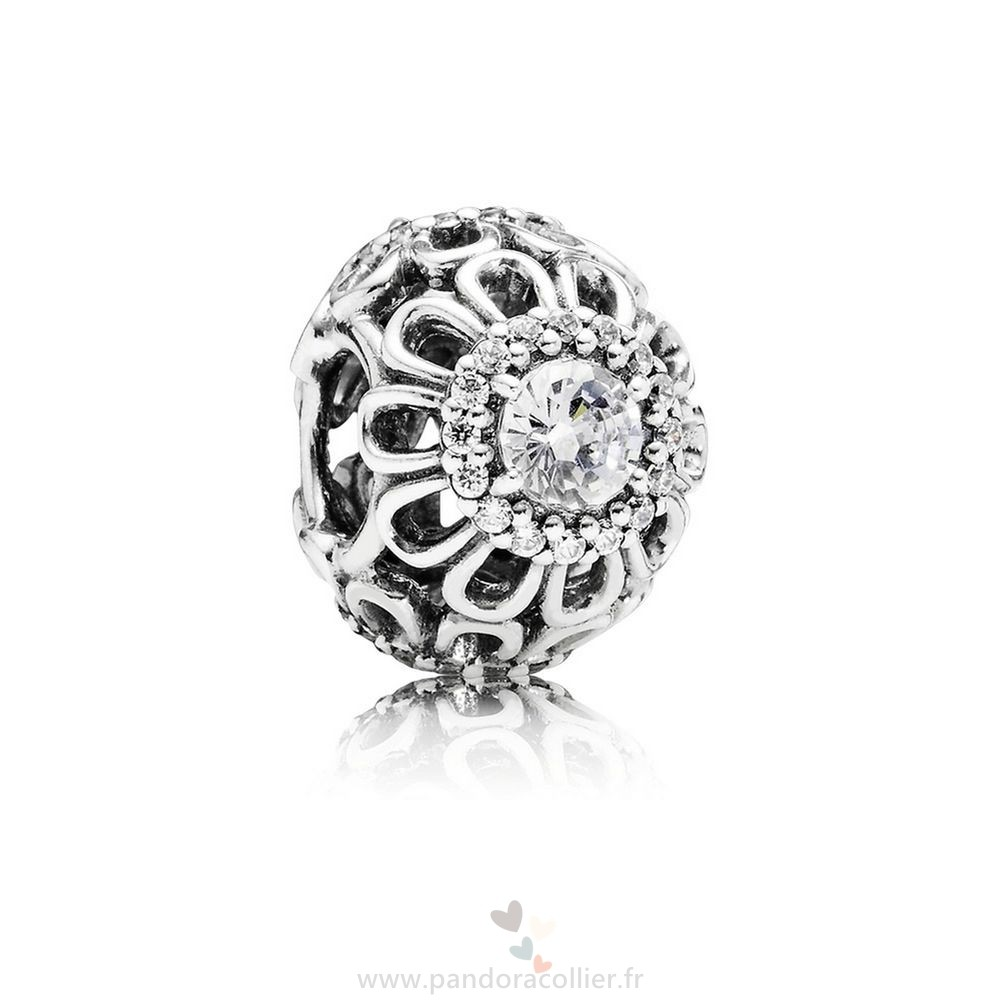 Promotionnel Pandora Pandora Nature Charms Floral Brillance Charme Clear Cz
