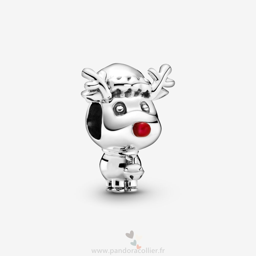 Promotionnel Pandora Rudolph Le Rouge Nose Reindeer Charm