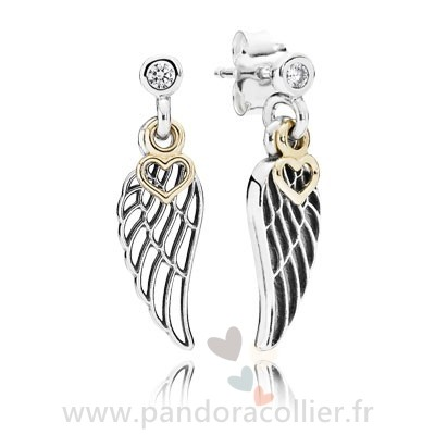 Promotionnel Pandora Boucles D'Oreilles Amour Guidance Drop Clear Cz