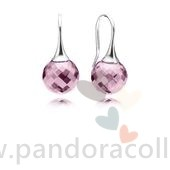 Promotionnel Pandora Boucles D'Oreilles Morning Dew Drop Rose Cz
