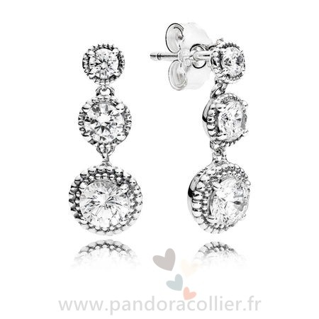 Promotionnel Pandora Eternal Elegance Drop Boucles D'Oreilles Clear Cz