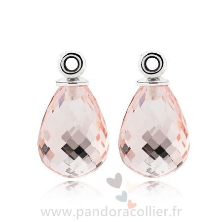 Promotionnel Pandora Fascinating Beauty Boucles D'Oreilles Charms Rose Murano Glass