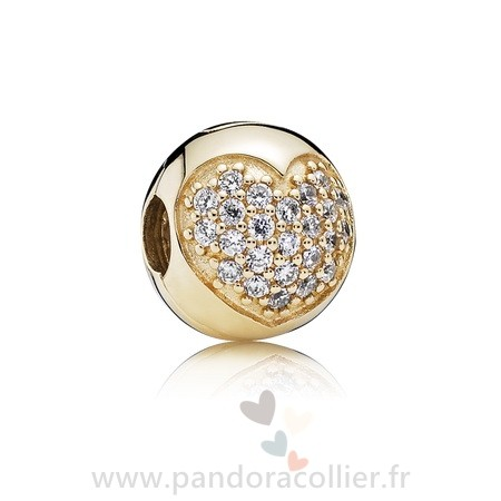 Promotionnel Pandora Amour Of Ma Life Clip Clear Cz 14K Or