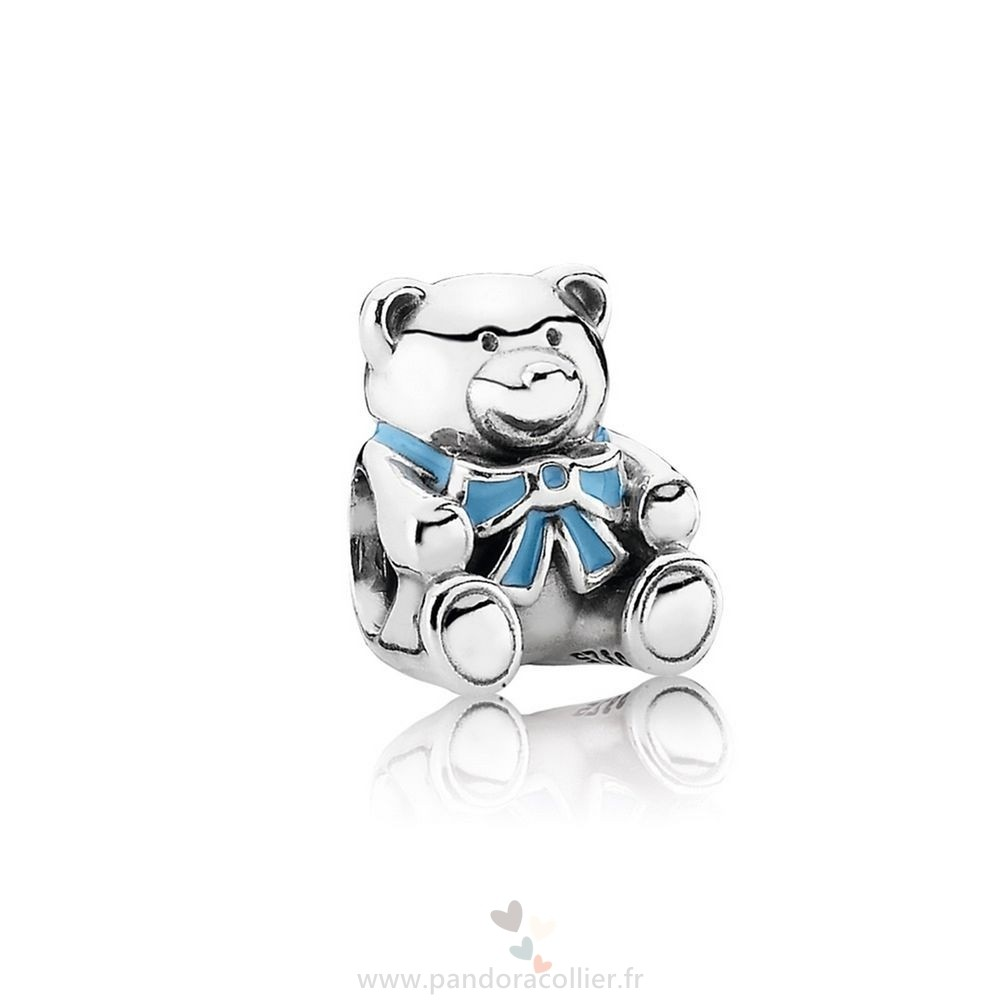 Promotionnel Pandora Charms Famille C'Est A Boy Teddy Ours Blue Email