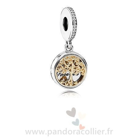 Promotionnel Pandora Dangle Charms Famille Roots Clear Cz