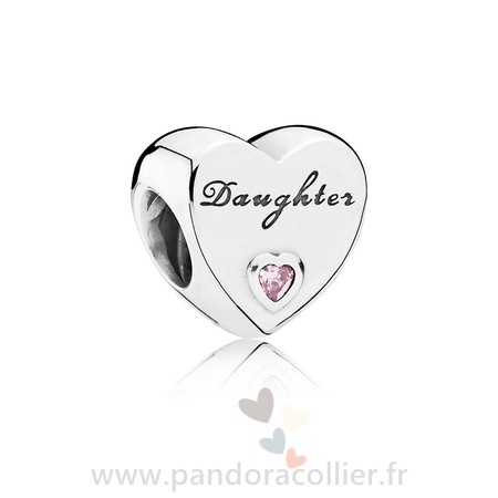 Promotionnel Pandora Famille Charms Charme Fille Amour Rose Cz