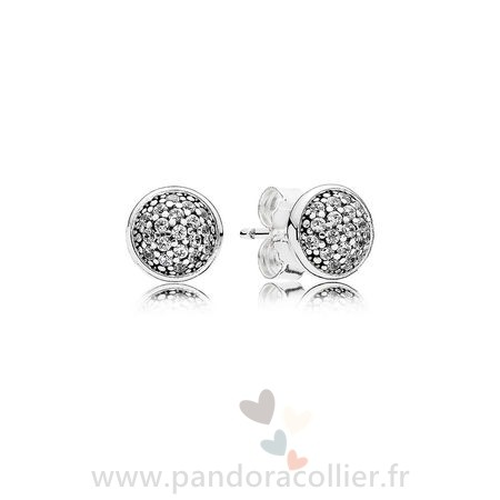 Promotionnel Pandora Boucles D'Oreilles Dazzling Droplets Stud Clear Cz
